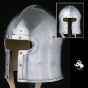 T Face Barbuta Helmet  - 14 Gauge